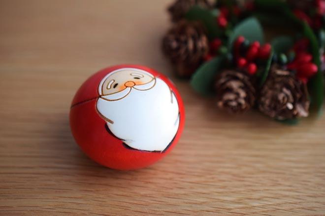メイドインジャパンのクリスマス。卯三郎こけしの、クリスマスこけし