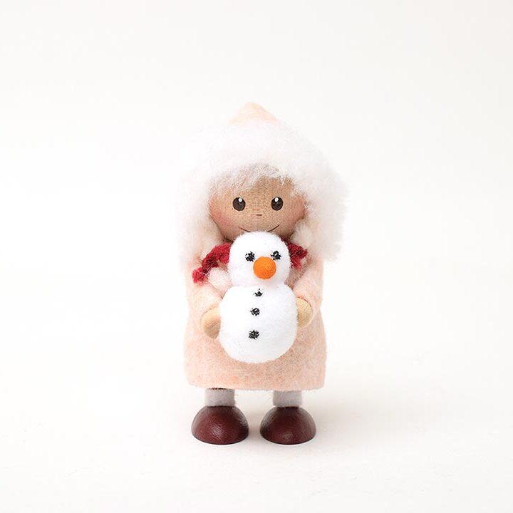 【予約販売10月下旬~11月上旬発送】ノルディカニッセ 雪だるまを持った女の子 星に願いを