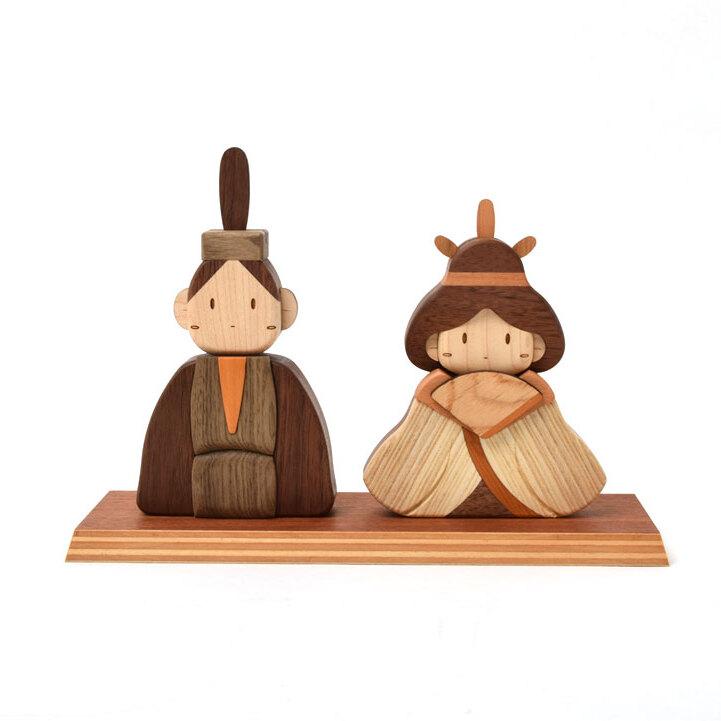 おひな様 木製ひな人形Aセット
