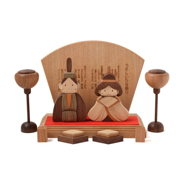 おひな様 木製ひな人形DXセット