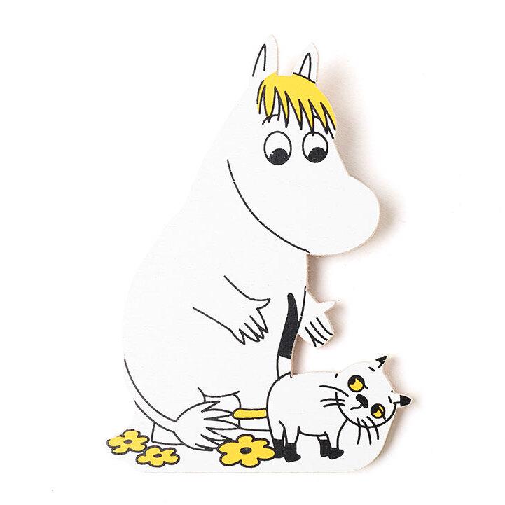 木製マグネット スノークのお嬢さんと猫