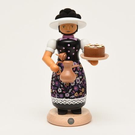 煙出し人形 ボレン帽子の女の子 ブラック